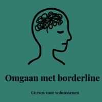 Illustratie van persoon met bol wol in hoofd met tekst Omgaan met borderline